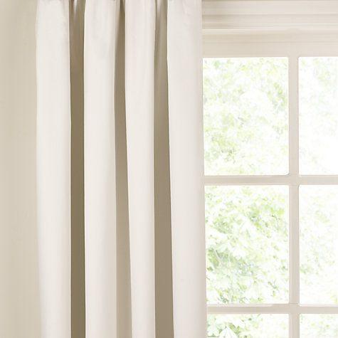 Buy John Lewis Blackout Curtain Linings Ivory Online At Johnlewis