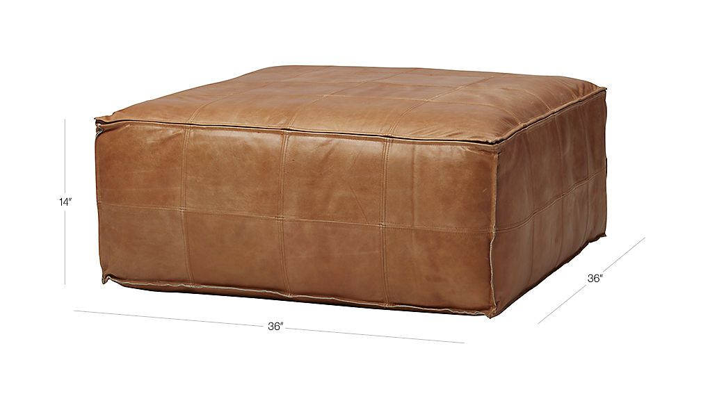 Leather Ottoman Pouf Reviews Cb2 Leather Ottoman Pouf Ottoman Leather Ottoman Coffee Table
