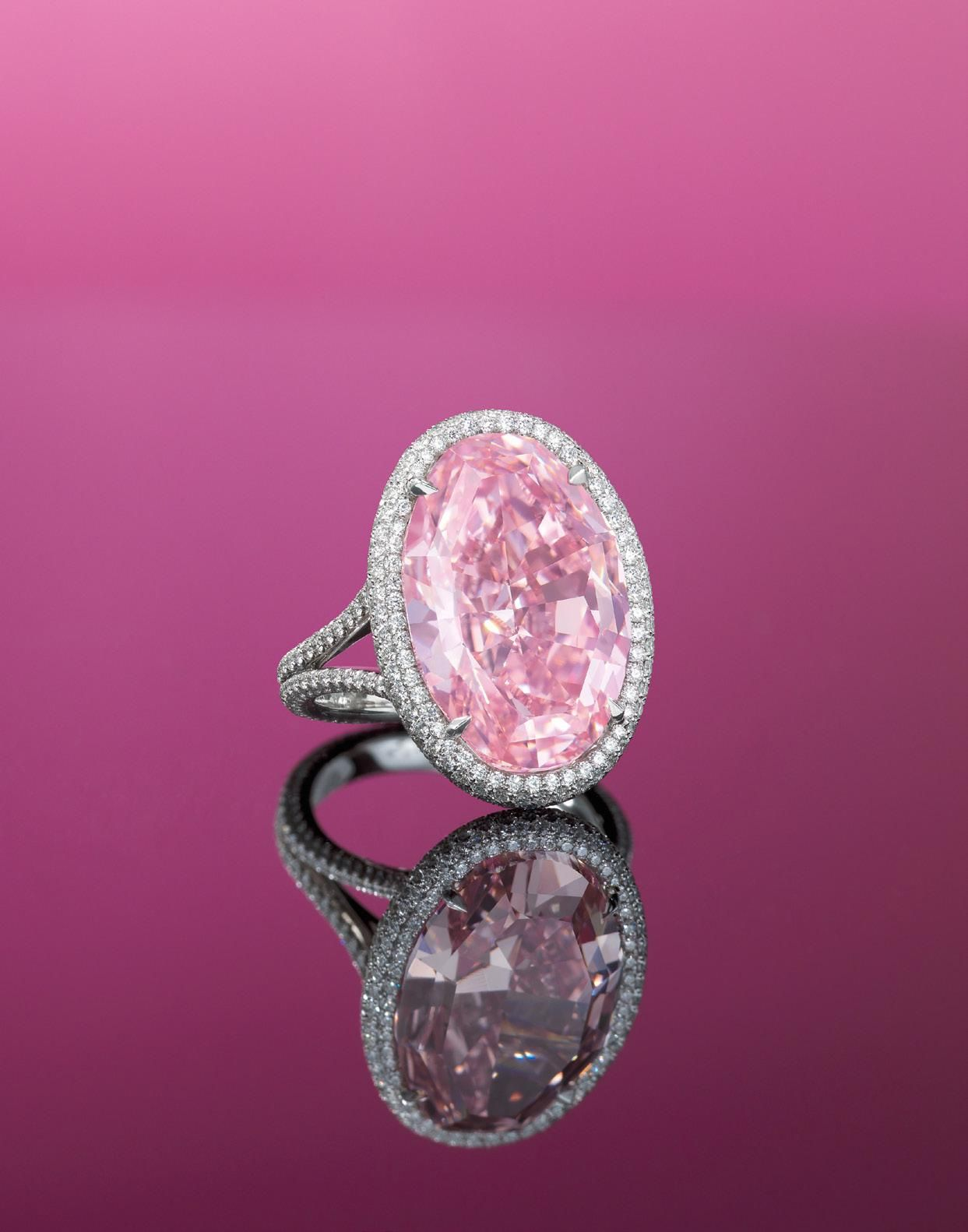 The Pink Promise. A rare 14.93 carats Type IIa oval-shaped fancy ...