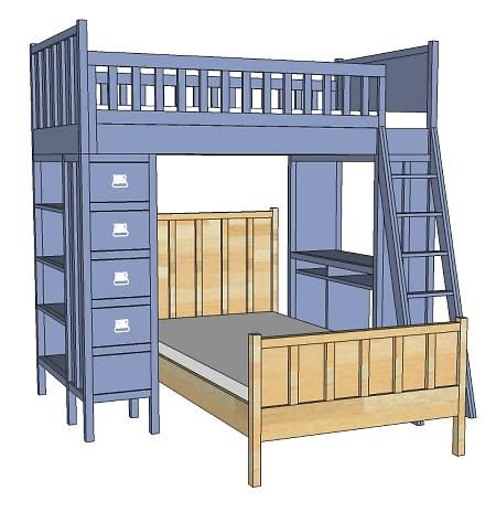 Cabin Collection Single Bed Loft Bed Single Bed Building A Cabin