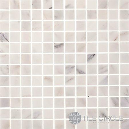 Aspen White Marble 1 X 1 Square Tile Square Tile White Marble White Backsplash