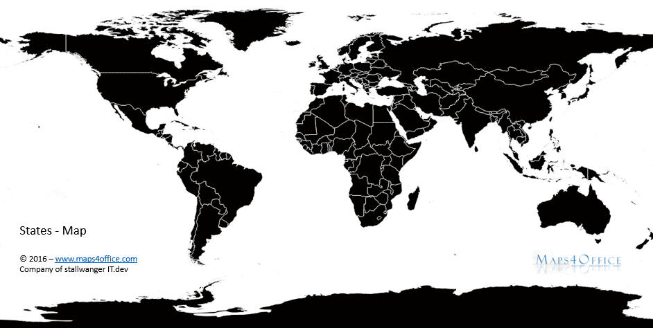 World Map Black And White For Commercial Use Weltkarte