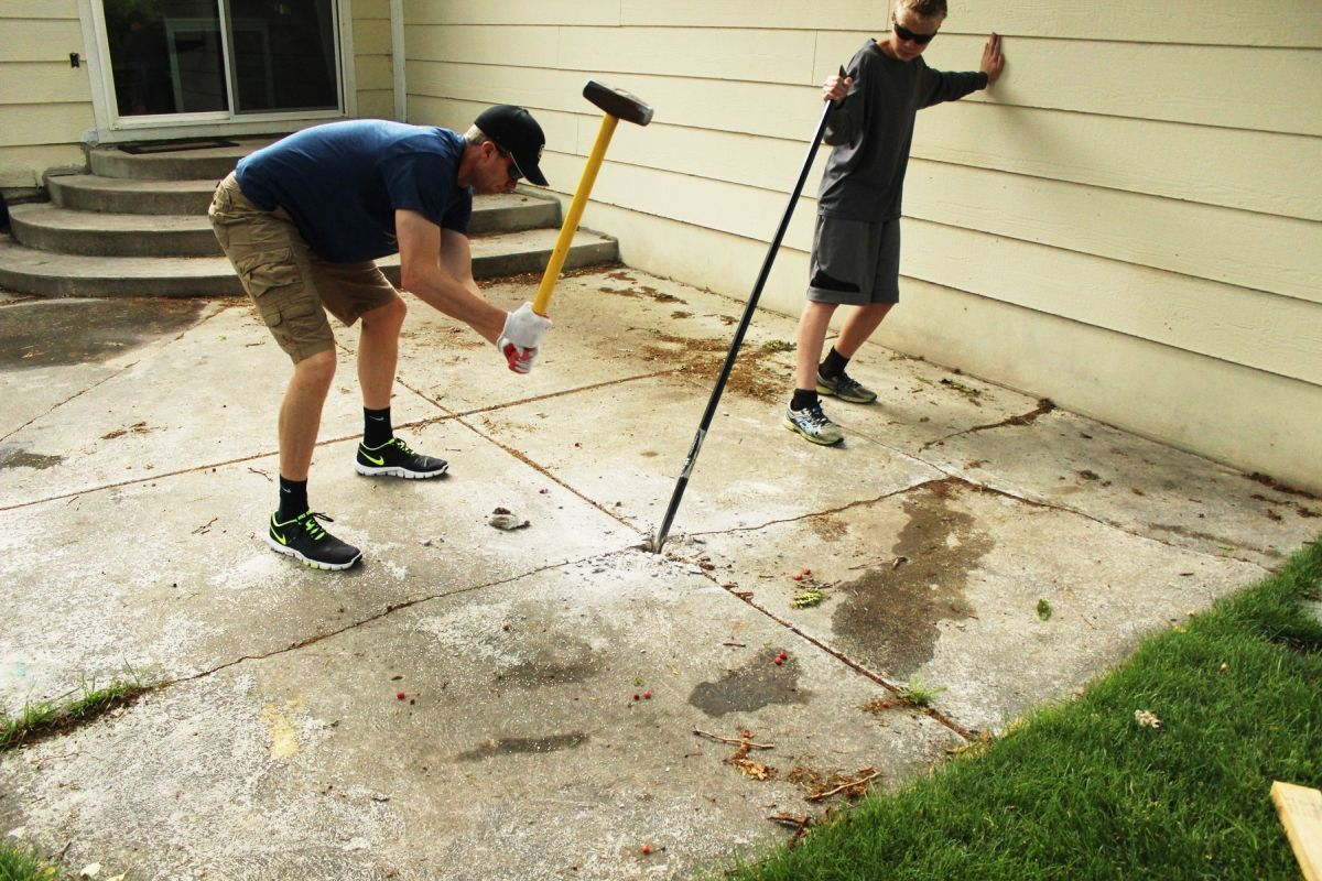Best Way To Remove Concrete Slabs On A Patio Curb Eal