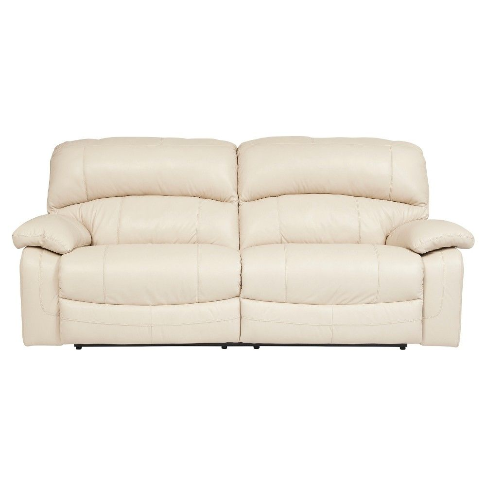 Damacio 2 Seat Reclining Power Sofa Cream Ivory Signature