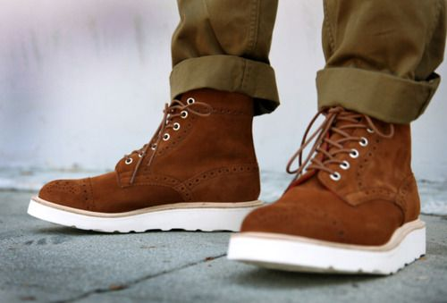white soles. | Mens lace up boots