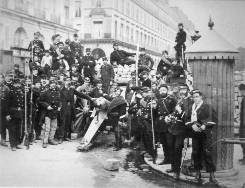 The barricades of the Paris Commune of 1871.