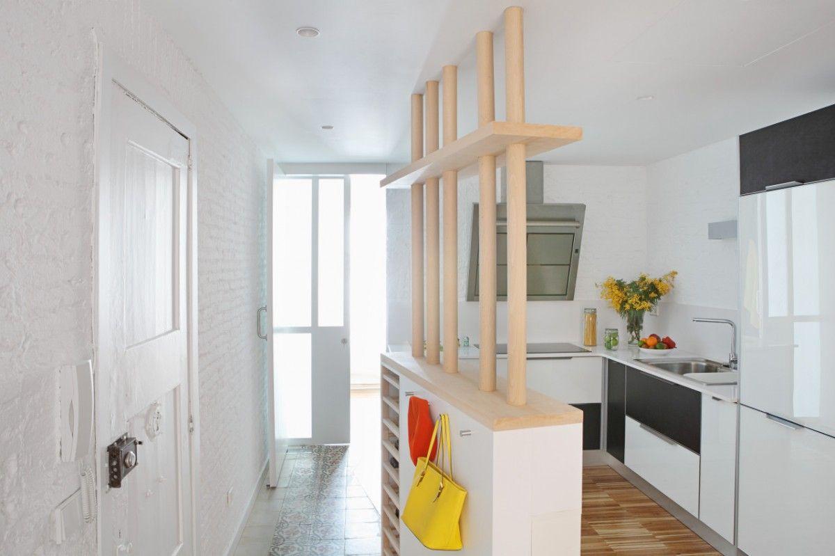 #recibidores #decoración #decora tu #casa #inspiración #diseño #piso #reforma #pequeño #antes y #después #nórdico #espacio #pequeño #separador #ambientes