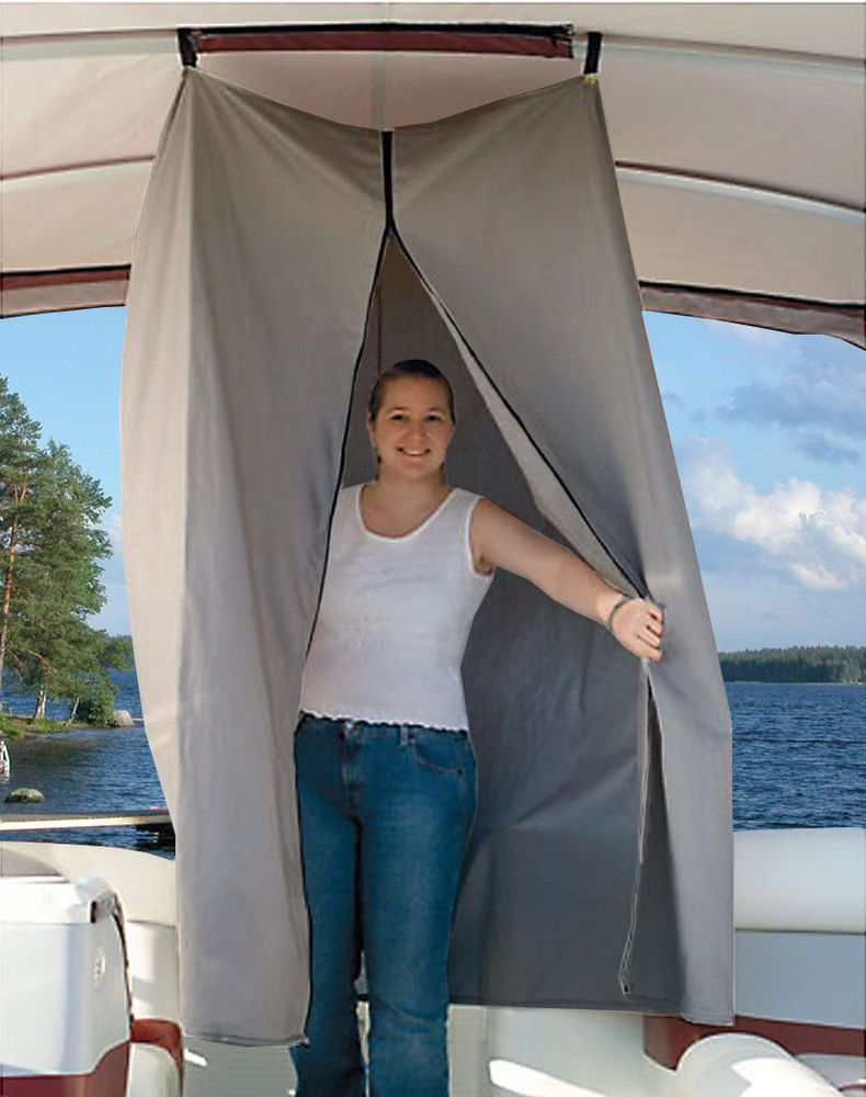 Pontoon boats with bathroom for sale - Pontoon Boat Easy Up Privacy Partition Enclosure 30 X 30 X 70 Grey Polyester