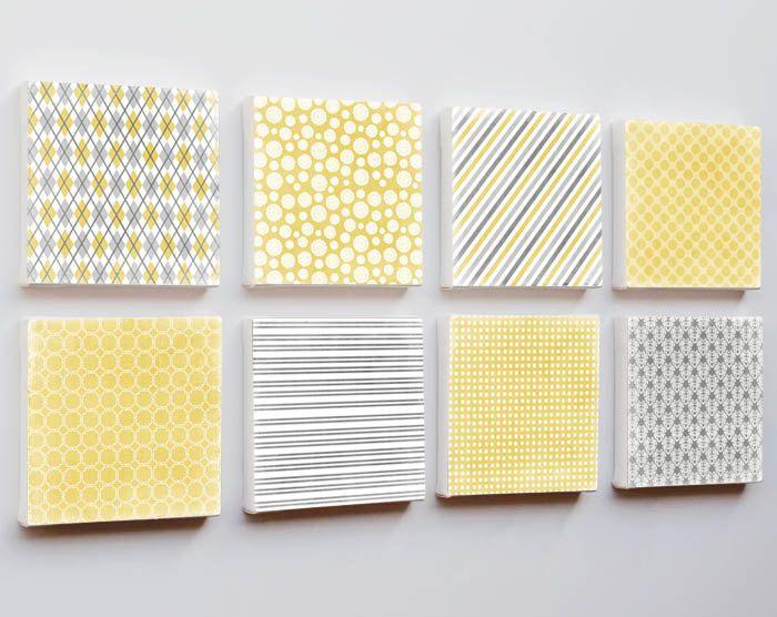 Geometric Art 6x6 - mid century modern wall art canvas prints set of ...