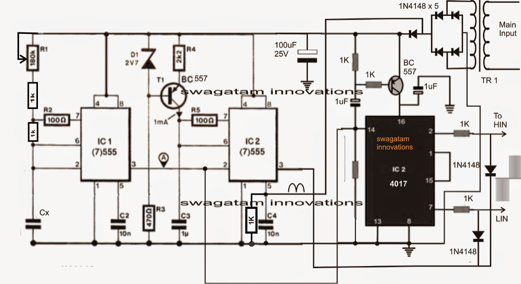 Single Phase Variable Frequency Drive VFD Circuit (With