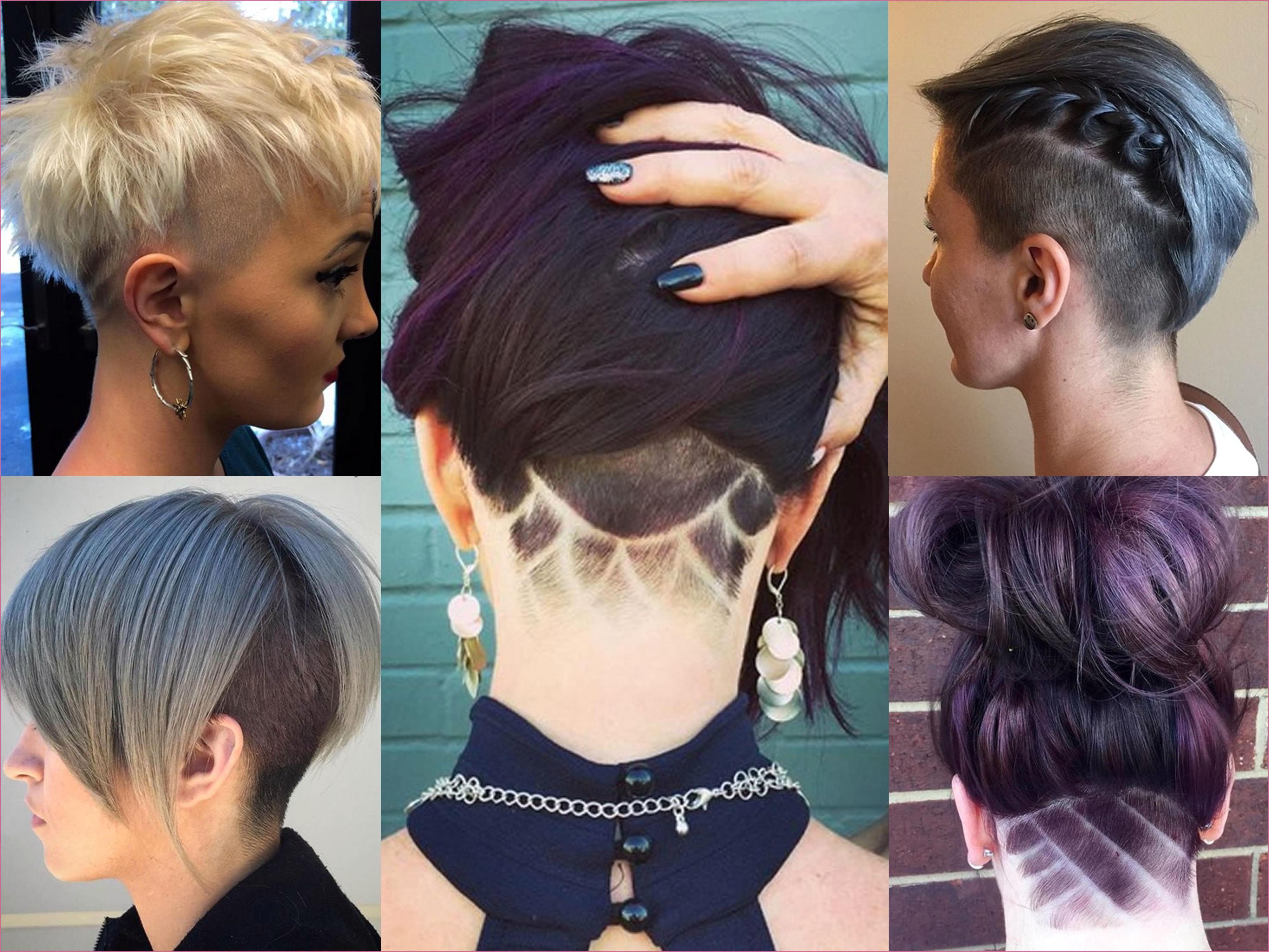 Frau sidecut Kurze Haare