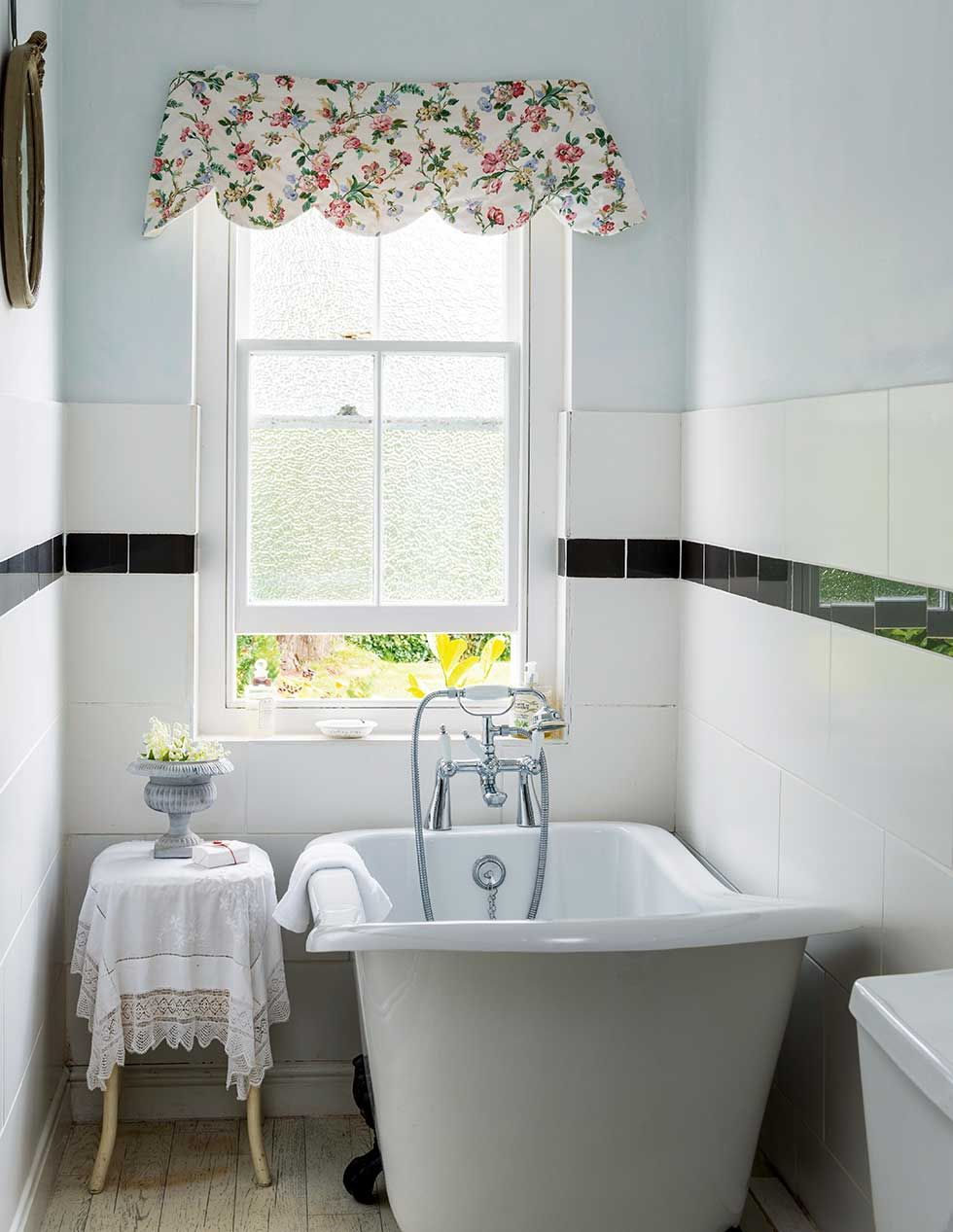 Real home: a renovated thatched holiday cottage  Cottage bathroom