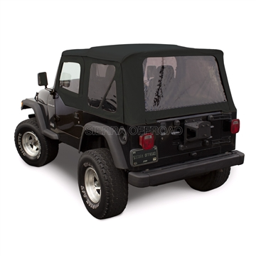 Sierra Offroad Wrangler Soft Top Door Skins Black Sailcloth In 2020 Jeep Wrangler Soft Top Jeep Wrangler Jeep Wrangler Grill