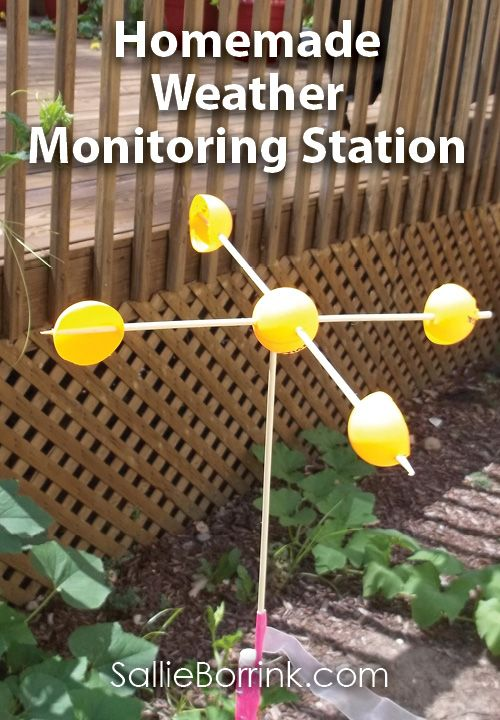 Create this easy homemade weather monitoring station with your preschooler or other young learner!