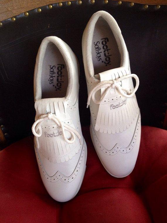 Ladies Kilties, Ladies Golf Shoes, White Oxford Kilties, FootJoy Women's  Golf Shoes, Size 11N Ladies, Golf Kilties, Tassel Ladies Golf Shoes