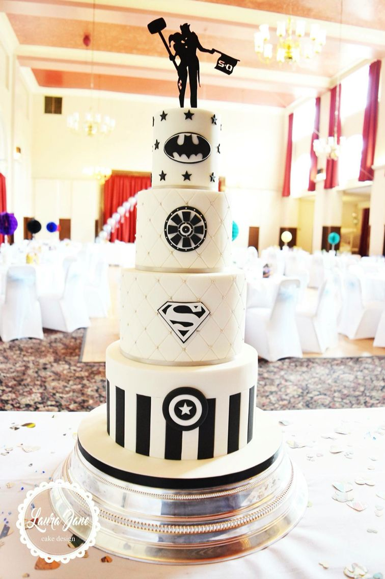 Superhero Wedding Cake | Wedding Cakes to Love | Pinterest ...