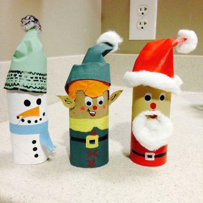 que peut on faire avec un rouleau papier toilette le rouleau papier toilette est un classique des bricolages pour enfants - Que Faire Avec Des Rouleaux De Papier Toilette Pour Noel