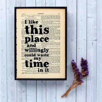Shakespeare Literary Quote Art Print