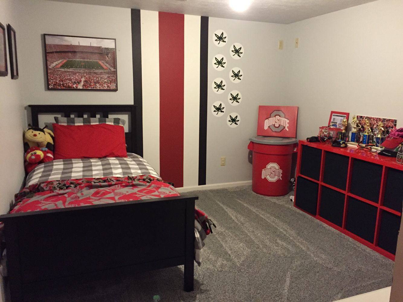 ohio state bedroom owen s ohio state bedroom furniture from ikea painting 12731