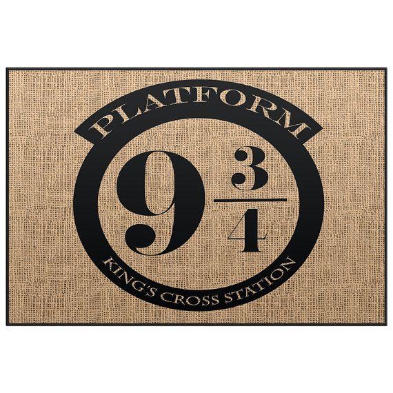 harry potter platform 9 34 kingu0027s cross station welcome mat door mat