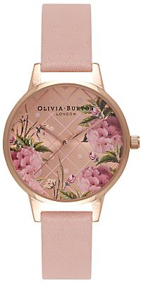 ec88a241b6abc Olivia Burton OB15EG43 Women s Dot Design Leather Strap Watch