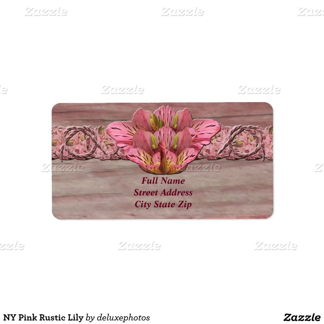 NY Pink Rustic Lily Label
