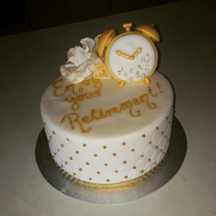 Retirement cake … | Cake and Cookie Ideas | Pinterest ...