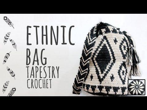 Tutorial Ethnic Crochet Bag Tapestry Technique - YouTube