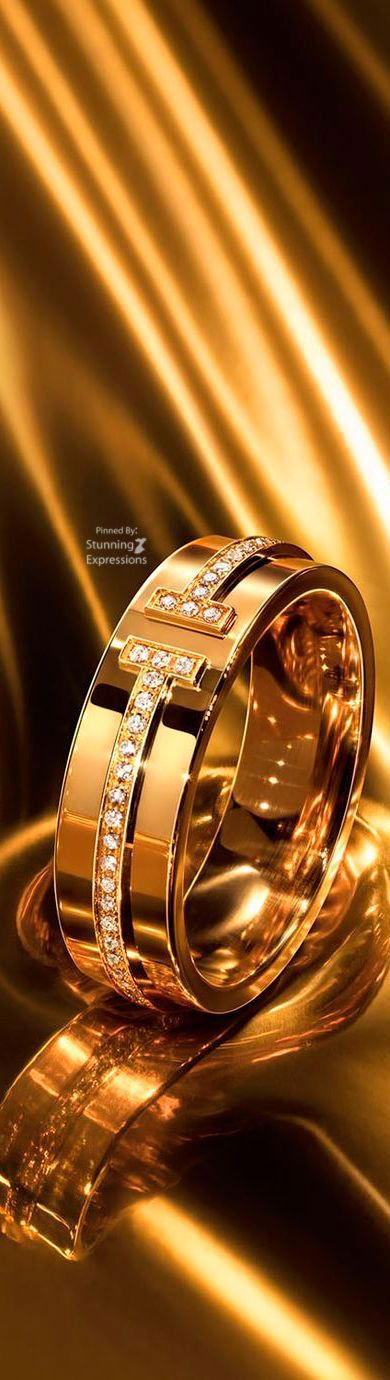 Snubni Prsten Zlato Zdobene Diamanty Tiffany Prsteny V