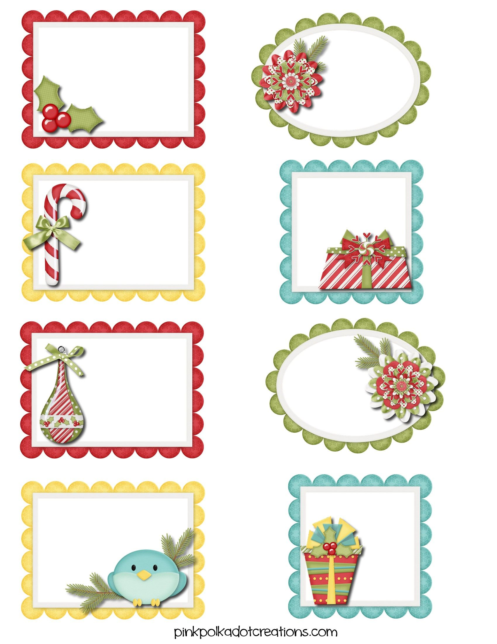 Cute Christmas Tags And Labels Pink Polka Dot Creations Gift Labels Christmas Christmas Labels Christmas Tags Printable