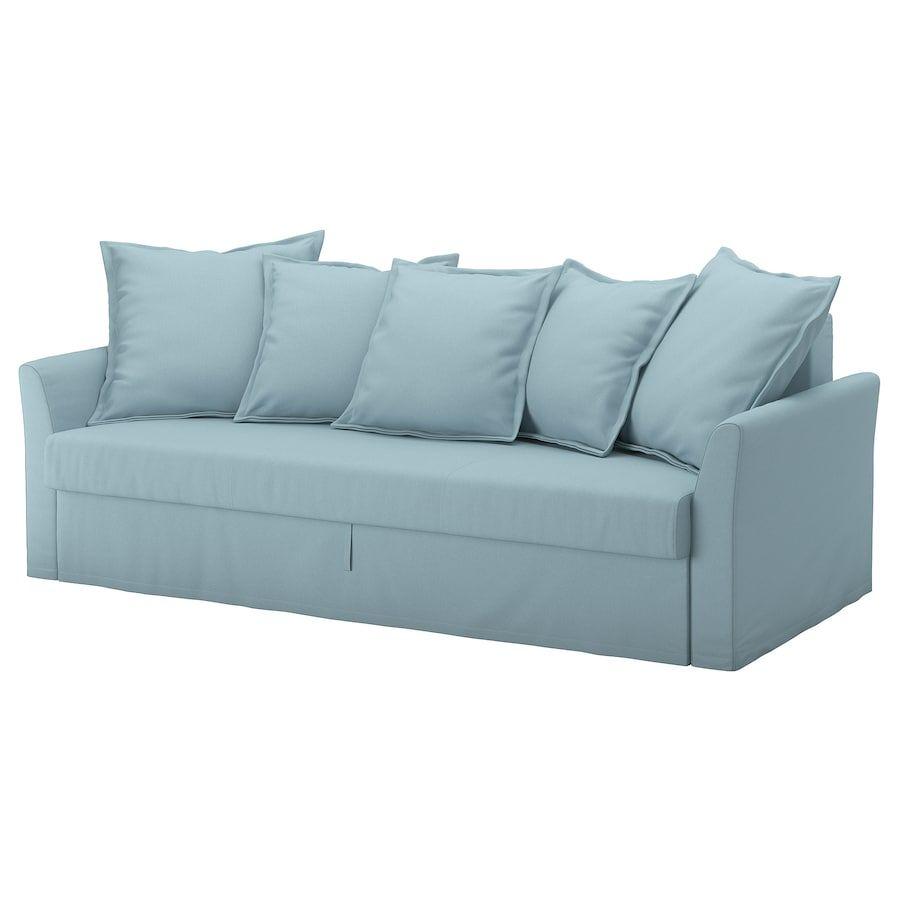 Ikea Divano Letto Due Posti.Holmsund Divano Letto A 3 Posti Orrsta Azzurro Divano Letto