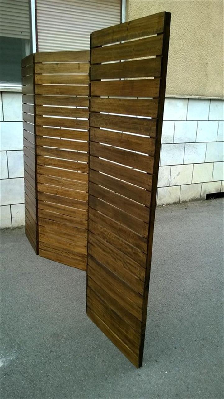 Upcycled Pallet Room Divider Pintura Em Telhas Telhas E Divis Ria ~ Divisoria Barata Para Quarto E Quarto Feito De Paletes