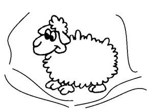 preschool sheep coloring pages Animal Coloring Pages Pinterest