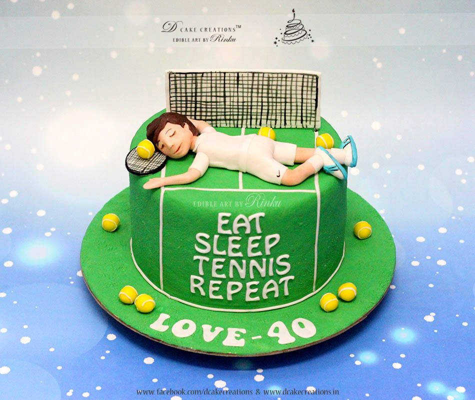 Amazing Tennis Theme Cake With Images Tennis Cake Tennis Birthday Funny Birthday Cards Online Alyptdamsfinfo