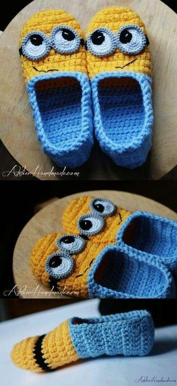 Crochet Minion Slippers For Adults Are Super Cute | Minions ...