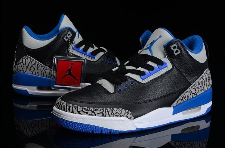 jordan 3 black blue