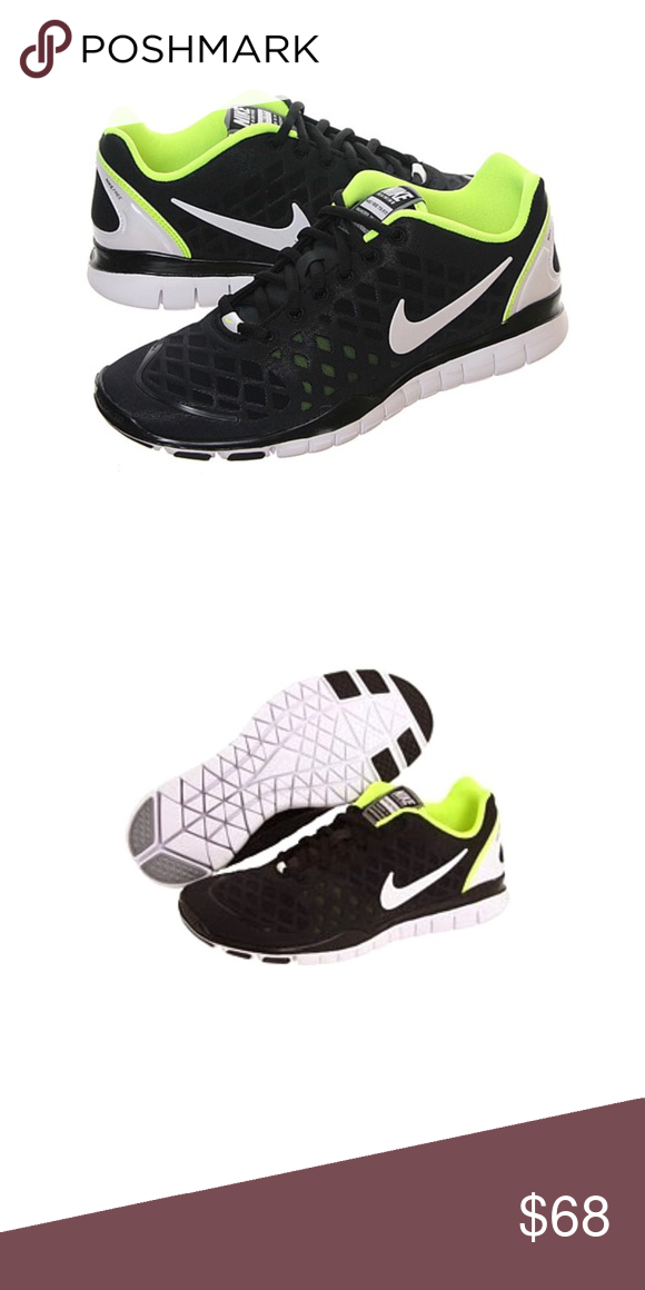 reputable site 5420e 63ef0 1HR Drop NIKE Free TR Fit training shoe Nike Free Training TR Fit. Size  ladies 10. True to size. Black w Volt. These were released by NIKE in 2010.