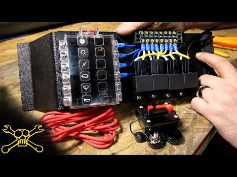 How To Make A Power Relay  Fuse Block | Automotive Wiring  YouTube | Truck LightingElectric