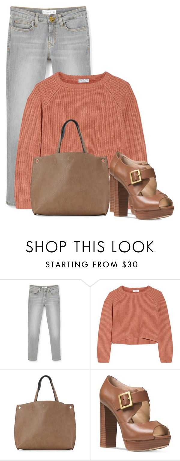 """""""Untitled #1648"""" by cardigurl ❤ liked on Polyvore featuring MANGO, Brunello Cucinelli, Street Level, Michael Kors and Judith Leiber"""
