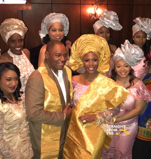 Omarosa Wedding Dress.Omarosa S Wedding Wedding Shots Omarosa Manigault Marries