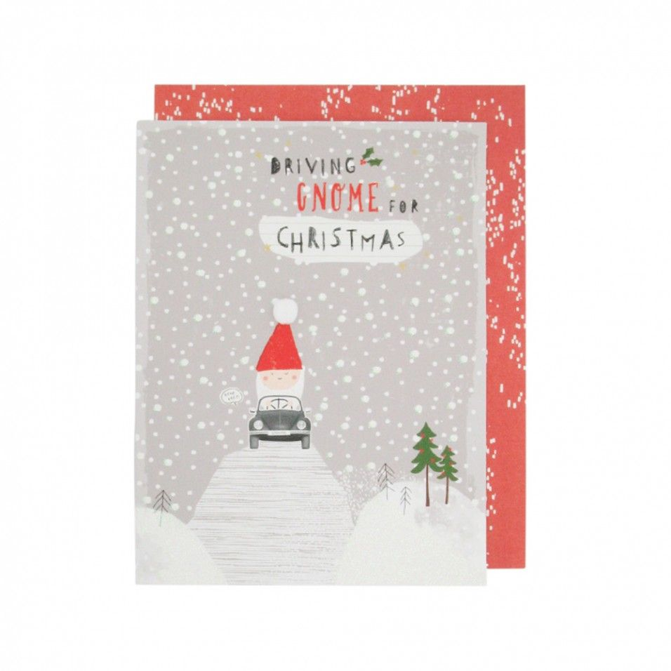 Driving gnome for Christmas card - Christmas Single Cards ...