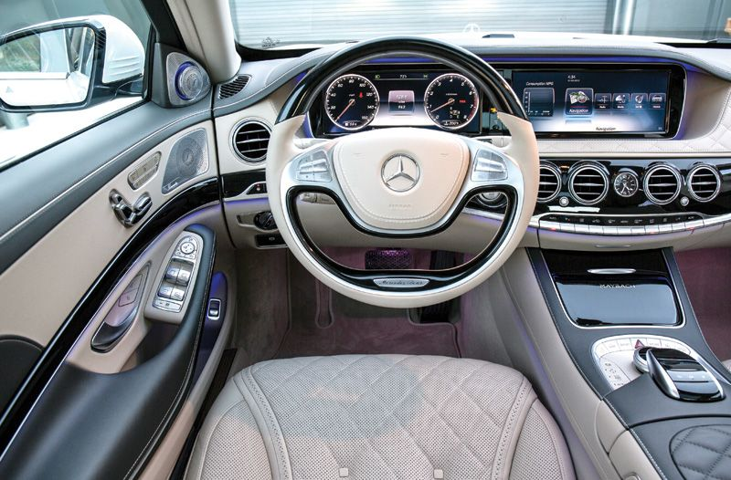 MercedesBenz Maybach interior and steering wheel