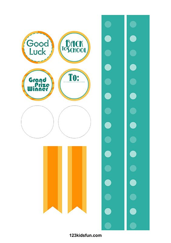 Free printable Award Ribbons for kids. Simple Preschool Paper Craft ...