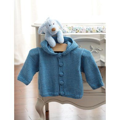 Childrens Knit Hoodie In Bernat Handicrafter Cotton Solids Free
