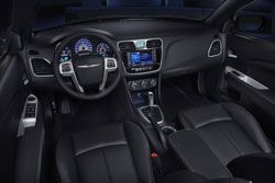The comfort of soft-touch fabrics and textures throughout the cabin of the 2012 Chrysler 200 at Capital Chrysler Jeep Dodge in EDMONTON gives you a sophisticated atmosphere.  The cruise and audio controls are safely integrated into the available leather-wrapped steering wheel easily let you operate the radio, cruise controls, phone, and other functions.