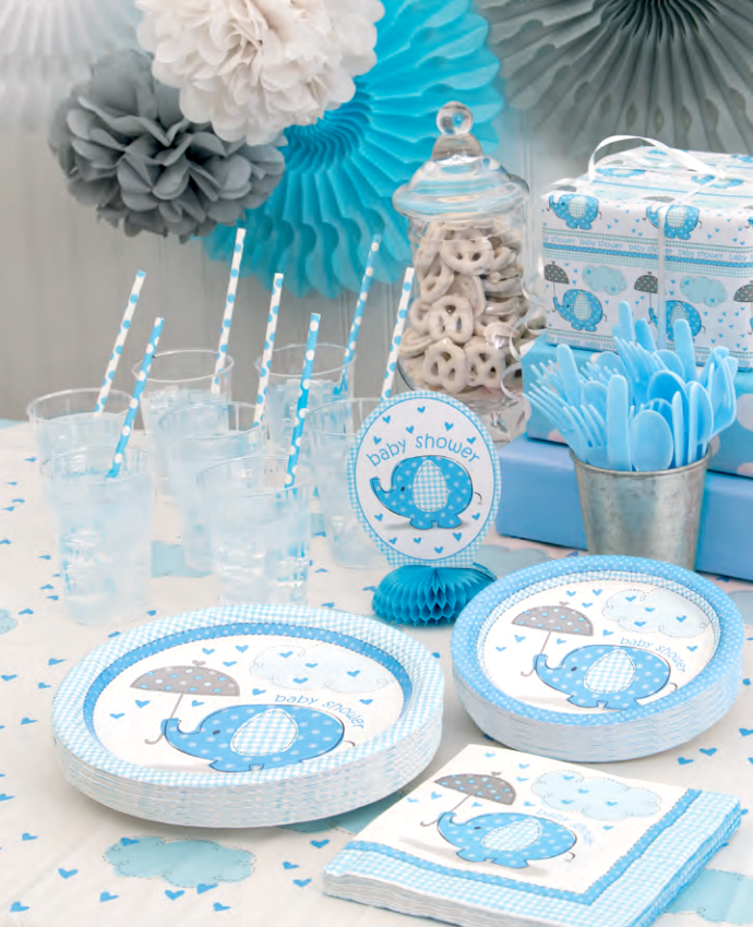 Blue themed baby shower ideas