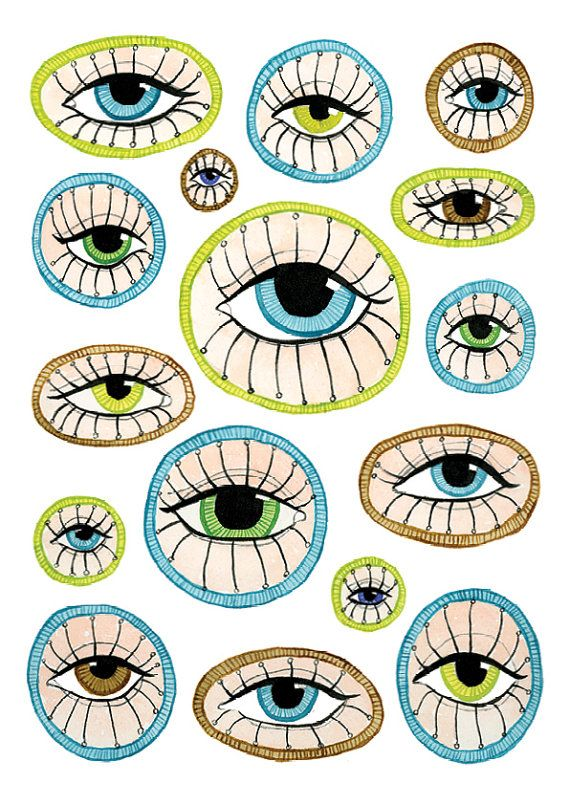 Eye can see you Big Eyes Collection A4 Archival by KlikaBoutique