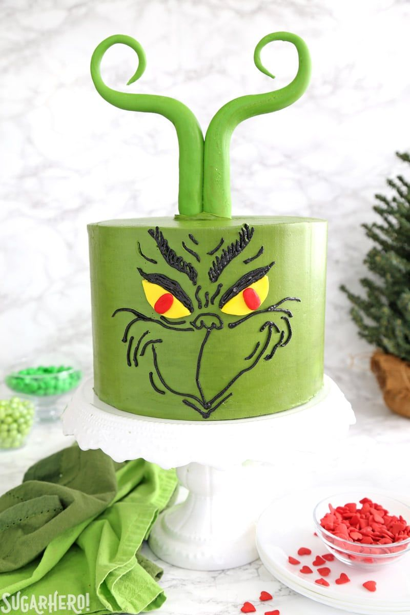 Grinch Cake this showstopping green Grinch Cake is