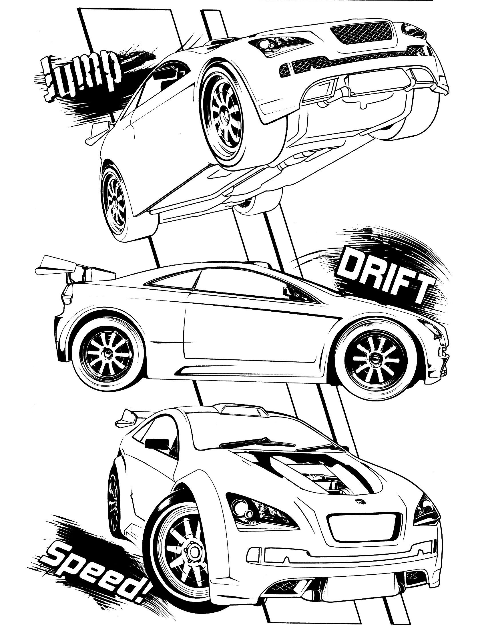 Coloring pages for hot wheels - Hot Wheels Coloring Page