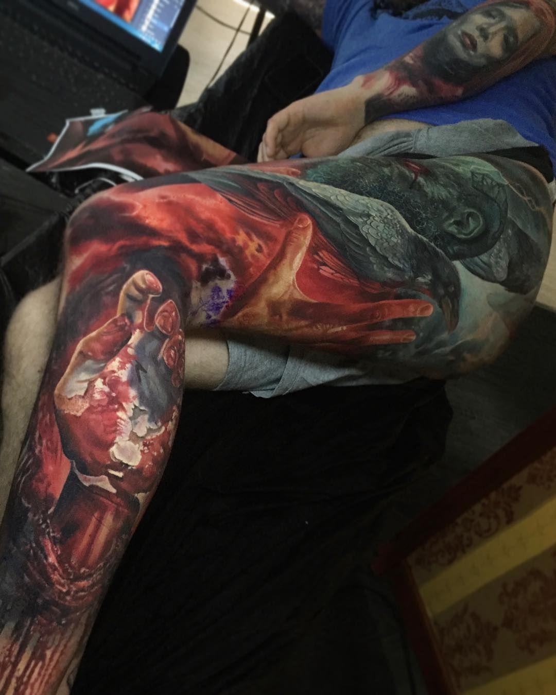 315d9580f Tattoo artist Boris authors black&grey color realistic fantasy tattoo |  Vienna, Austria